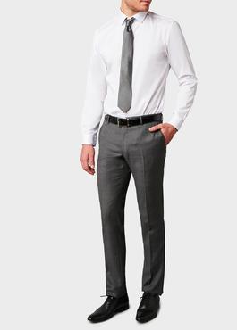 Pantalon de costume Regular en laine Vitale Barberis Canonico grise Prince de Galles 2 - Father And Sons