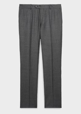 Pantalon de costume Regular en laine Vitale Barberis Canonico grise Prince de Galles 1 - Father And Sons