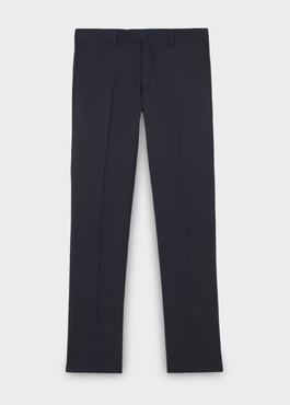 Pantalon de costume Regular en laine Vitale Barberis Canonico unie bleu marine 1 - Father And Sons