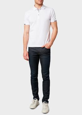 Polo manches courtes Slim en coton mercerisé blanc 2 - Father And Sons