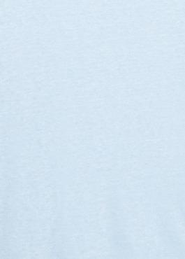 Tee-shirt manches courtes en lin uni bleu ciel 2 - Father And Sons
