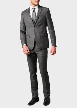 Veste de costume Regular en laine Vitale Barberis Canonico gris Prince de Galles 2 - Father And Sons