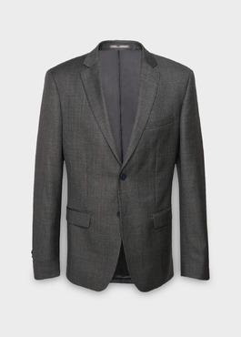 Veste de costume Regular en laine Vitale Barberis Canonico gris Prince de Galles 1 - Father And Sons