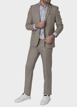 Veste coordonnable Regular en lin marron 2 - Father And Sons