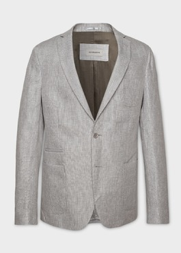 Veste casual Regular en lin gris clair 1 - Father And Sons