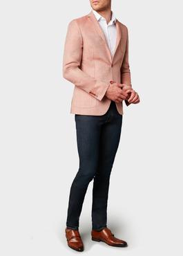 Veste casual Slim en coton façonné orange 2 - Father And Sons