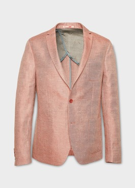 Veste casual Slim en coton façonné orange 1 - Father And Sons