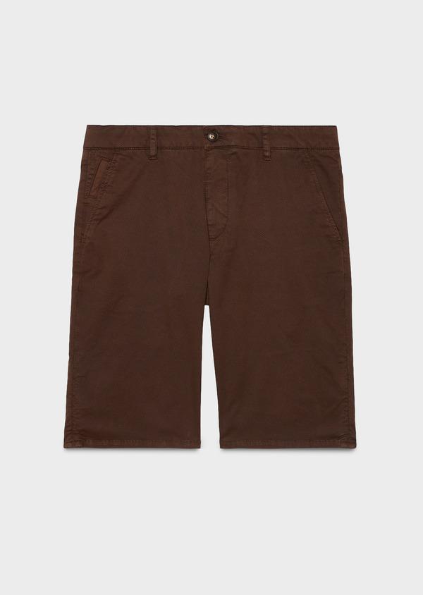 Bermuda en coton stretch marron à motifs - Father and Sons 4636