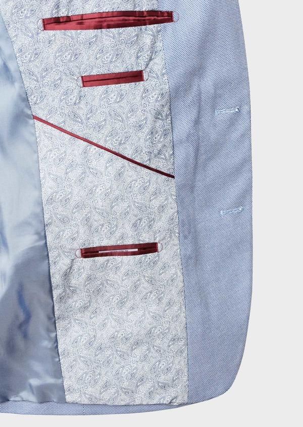 Bermuda en coton stretch bleu à motifs géométriques - Father and Sons 4627