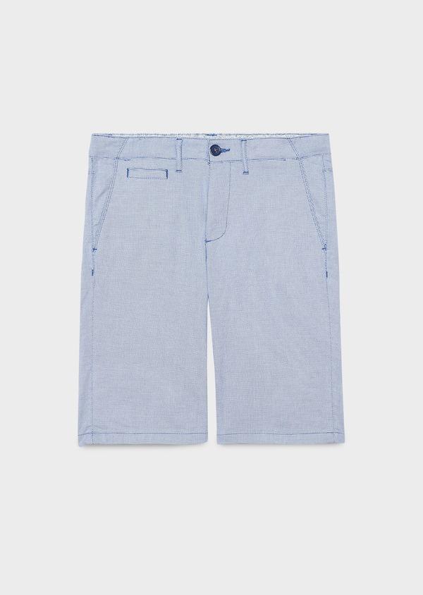 Bermuda en coton stretch bleu à motifs géométriques - Father and Sons 4623