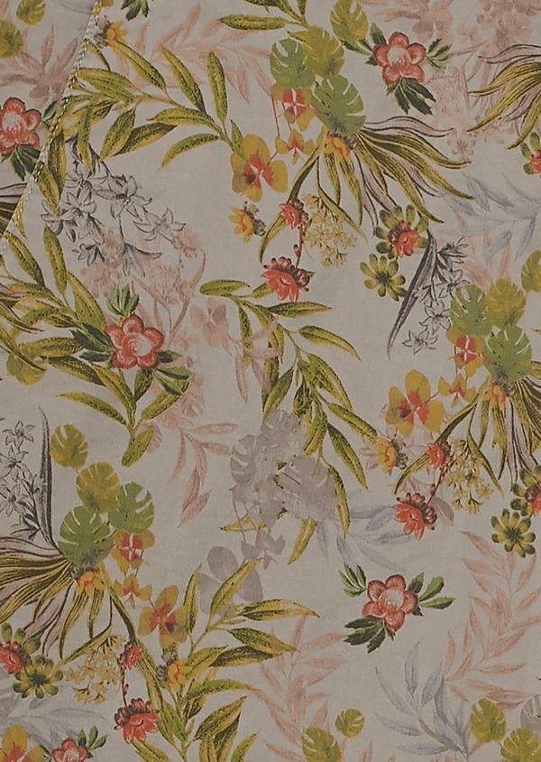 Bermuda en coton stretch marron clair à motif fleuri - Father and Sons 7830