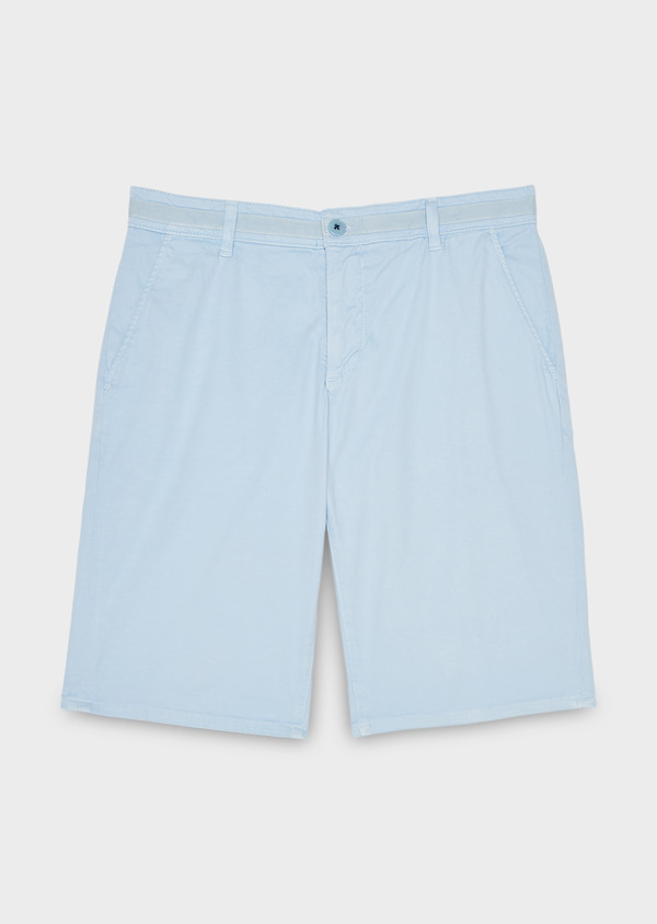 Bermuda en coton stretch uni bleu ciel - Father and Sons 7821