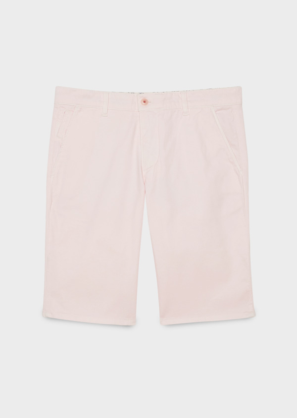Bermuda en coton stretch uni rose clair - Father and Sons 4648