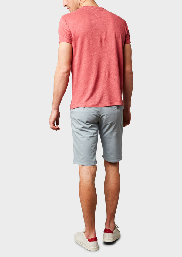 Bermuda en coton stretch uni gris - Father and Sons 4633
