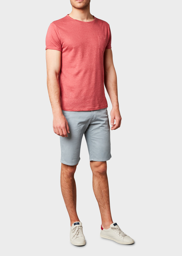 Bermuda en coton stretch uni gris - Father and Sons 4632