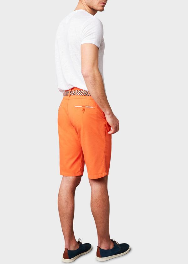 Bermuda en coton stretch uni orange - Father and Sons 4614