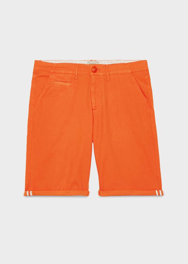 Bermuda en coton stretch uni orange - Father and Sons 4611