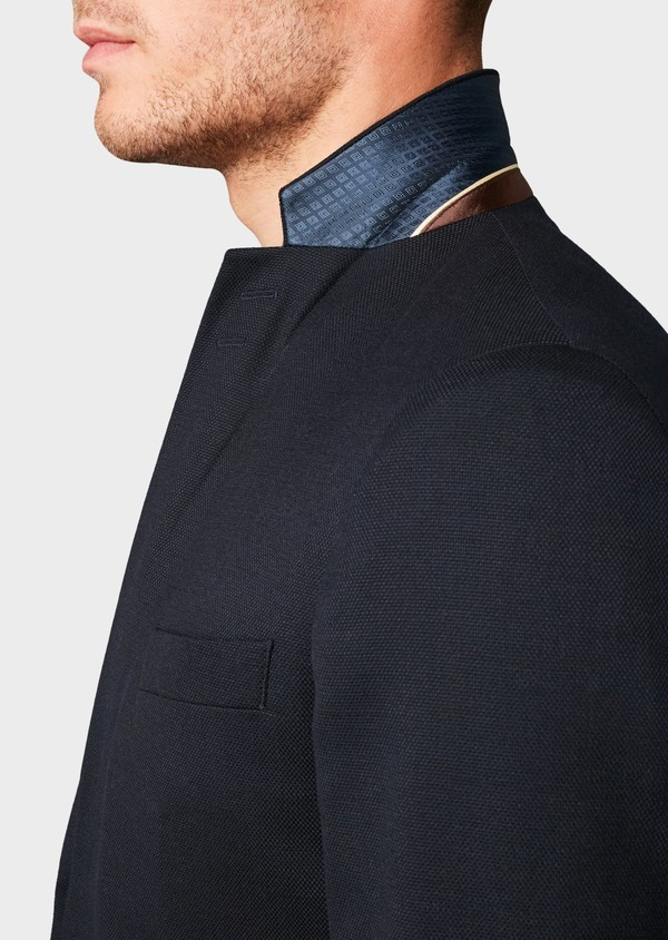 Blazer Slim en laine mélangée uni marine - Father and Sons 4658