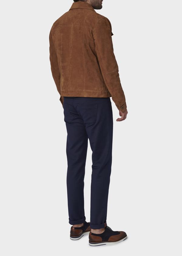 Blouson veste en daim uni camel - Father and Sons 4685