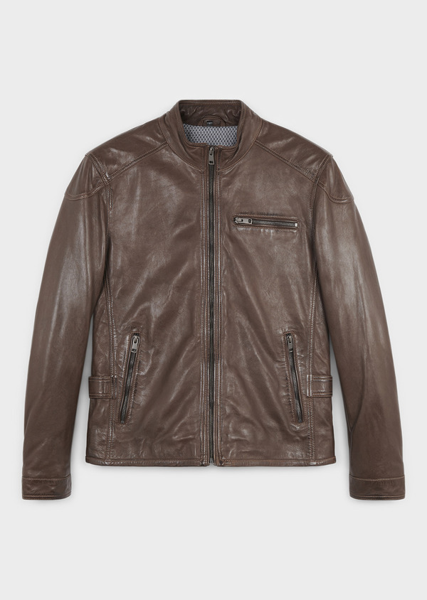 Veste cuir father and sons