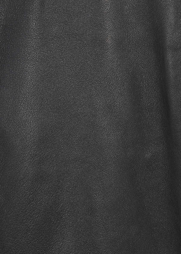 Blouson Biker en cuir uni noir - Father and Sons 4692