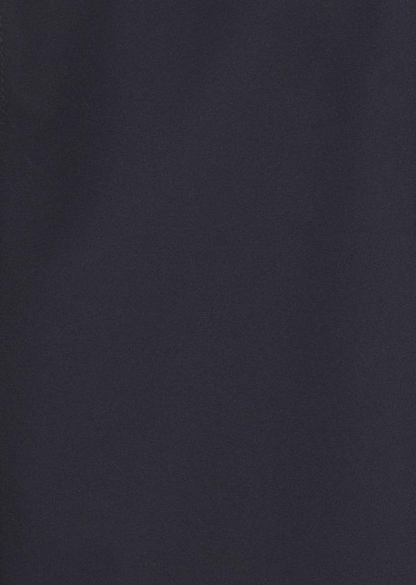 Parka unie bleu marine à capuche amovible - Father and Sons 4756
