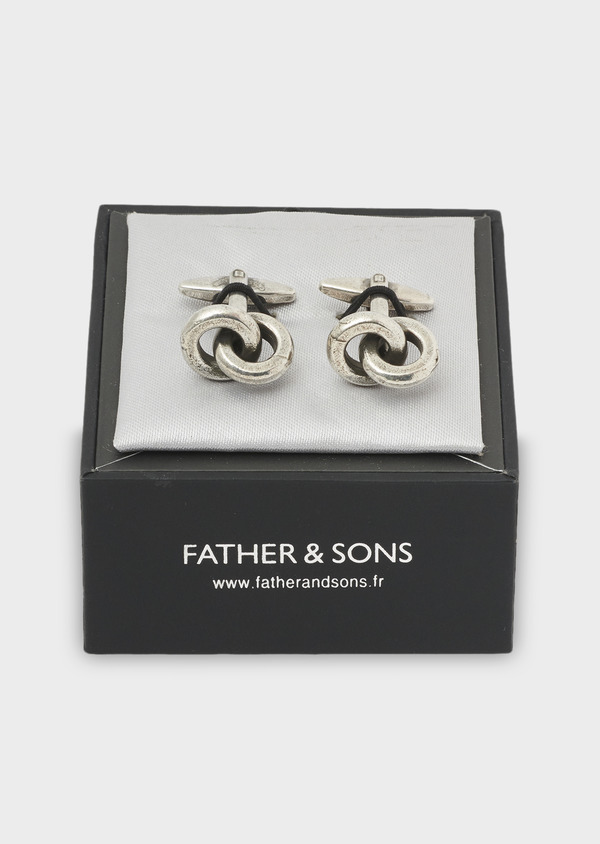 Boutons de manchettes anneaux argent - Father and Sons 4774