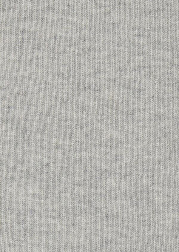 Chaussettes en coton mélangé gris clair à motif fantaisie vert foncé et rose - Father and Sons 7856