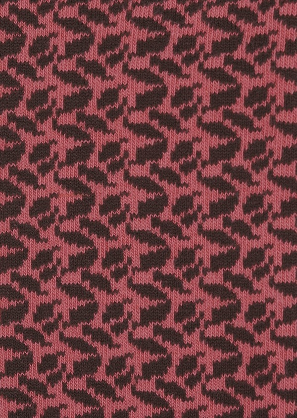 Chaussettes en coton mélangé rouge à motif fantaisie marron foncé - Father and Sons 7924