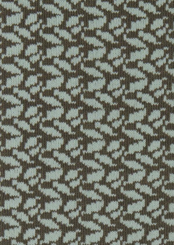 Chaussettes en coton mélangé vert kaki à motif fantaisie vert clair - Father and Sons 7860