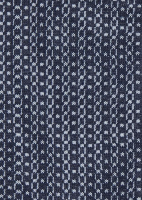 Chaussettes en coton mélangé bleu clair à motif fantaisie marine - Father and Sons 7868