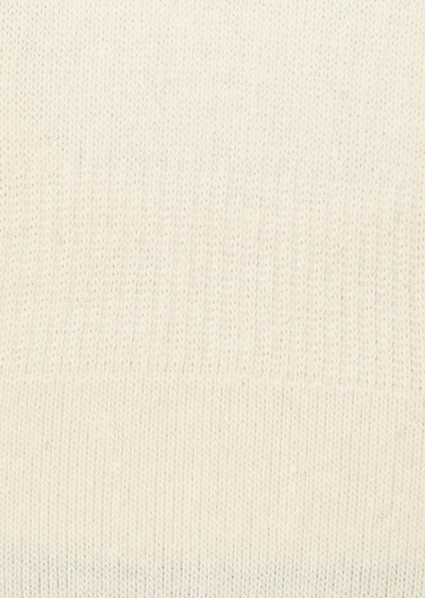 Chaussettes invisibles en coton mélangé écru à motifs bleus - Father and Sons 7944
