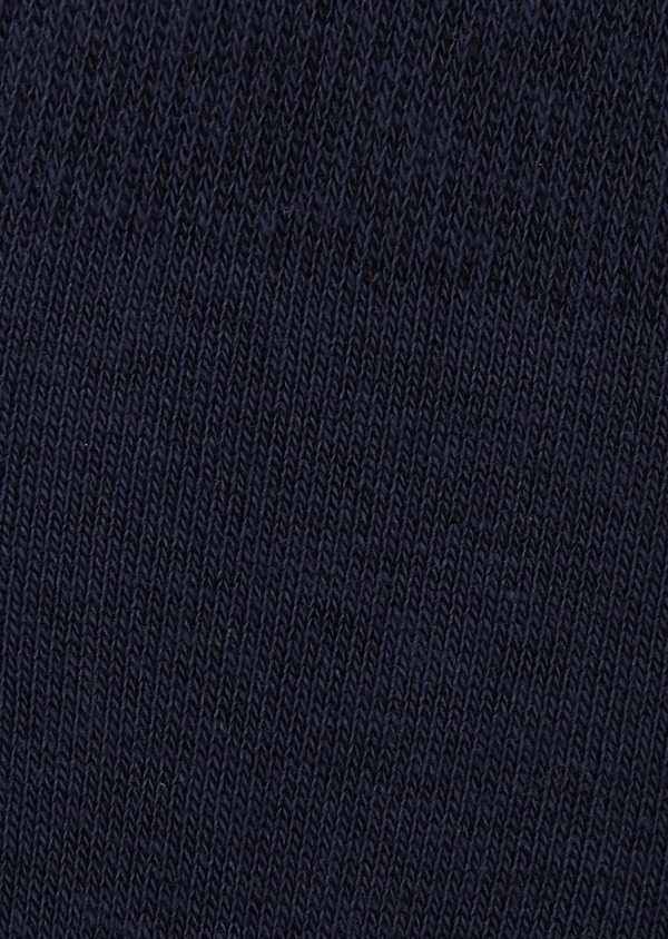 Chaussettes invisibles en coton mélangé bleu à pois oranges - Father and Sons 7940