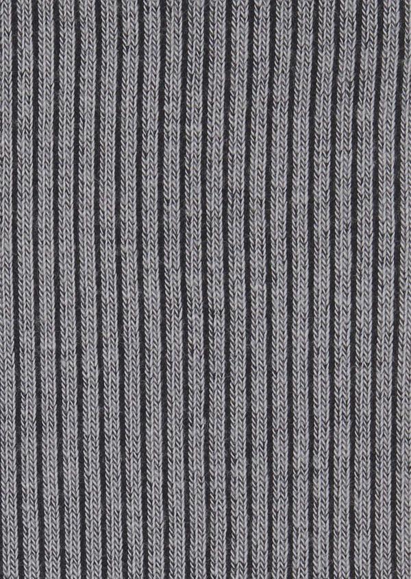 Chaussettes en coton mélangé gris-bleu à rayures noires - Father and Sons 7888