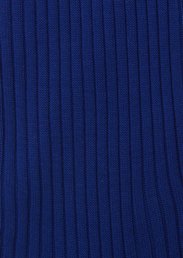 Chaussettes en coton fil d'Ecosse uni bleu clair - Father and Sons 8012
