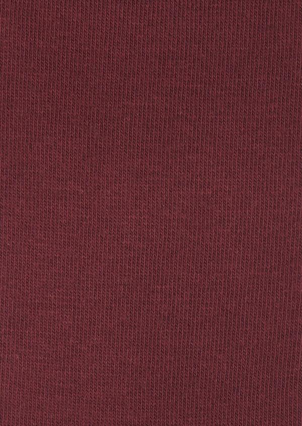 Chaussettes en coton mélangé uni rouge - Father and Sons 7980