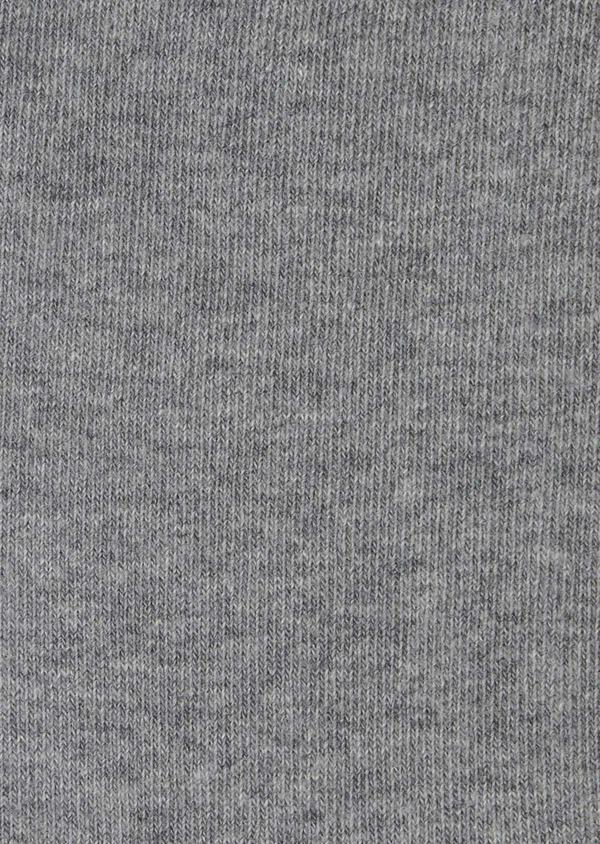 Chaussettes en coton mélangé uni gris clair - Father and Sons 7948