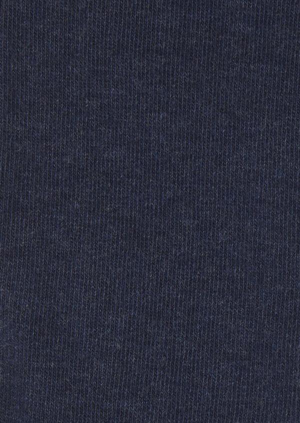 Chaussettes en coton mélangé uni bleu foncé - Father and Sons 7960