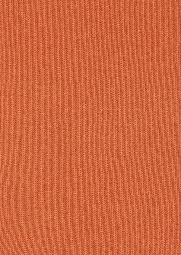 Chaussettes en coton mélangé uni orange - Father and Sons 7976