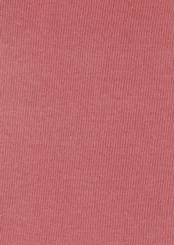 Chaussettes en coton mélangé uni rose - Father and Sons 7968