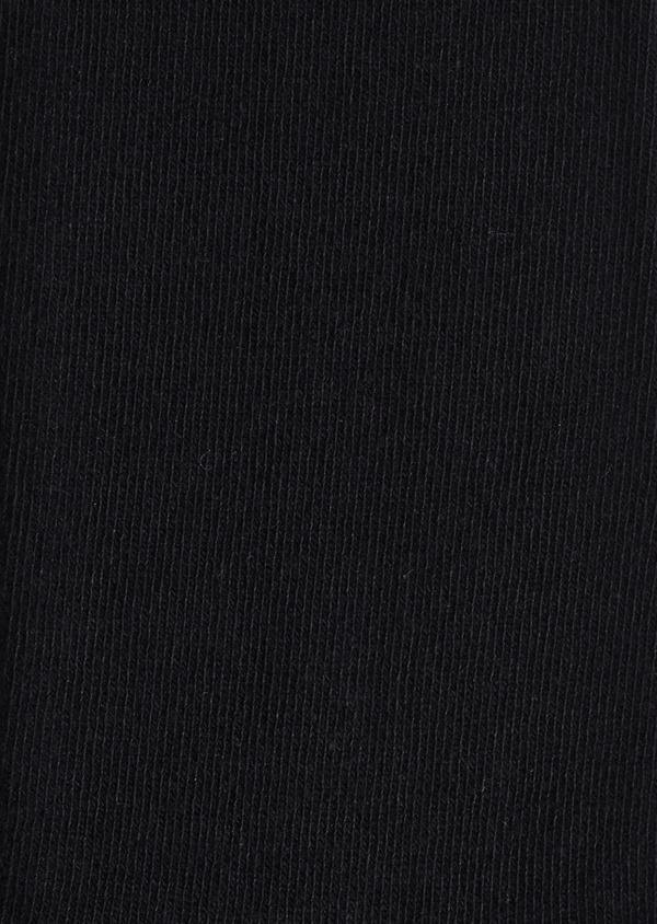 Chaussettes en coton mélangé uni noir - Father and Sons 9052