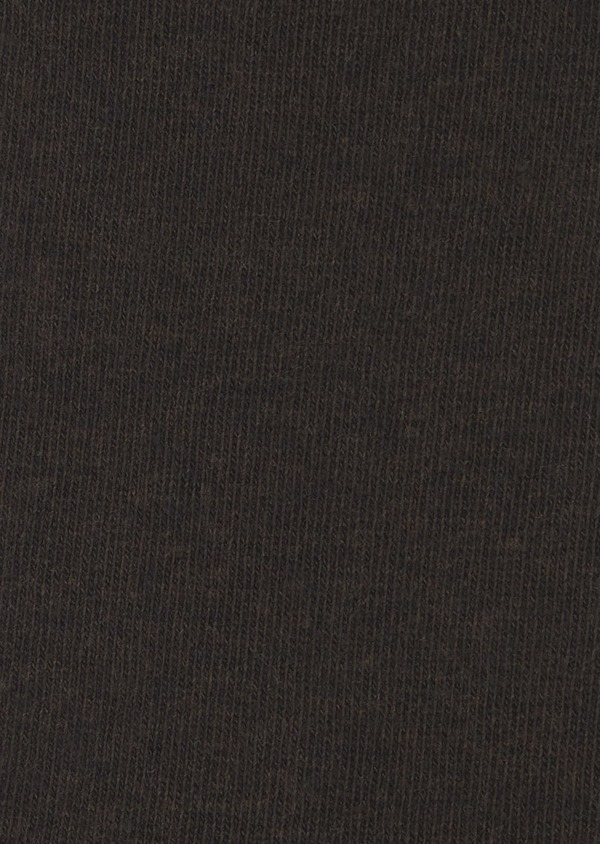 Chaussettes en coton mélangé uni marron foncé - Father and Sons 7984
