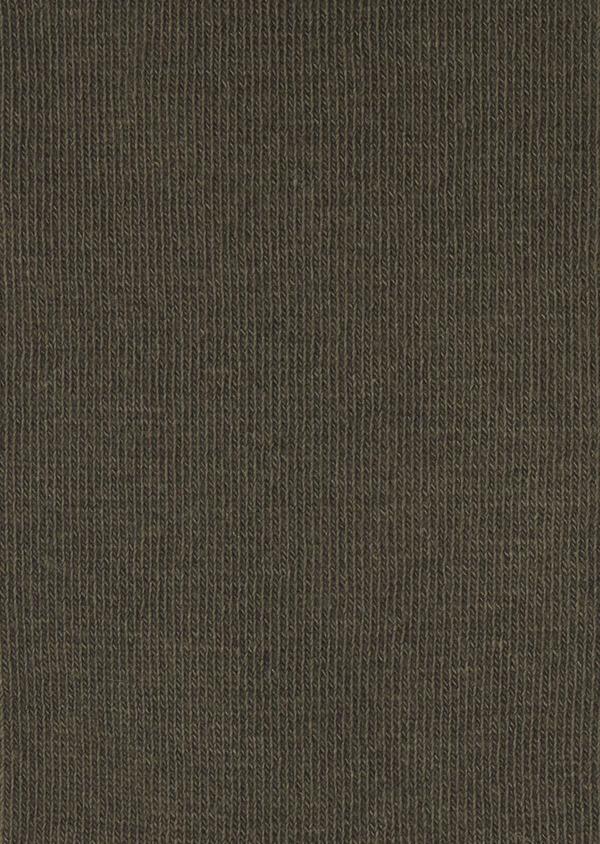 Chaussettes en coton mélangé uni vert kaki - Father and Sons 7952