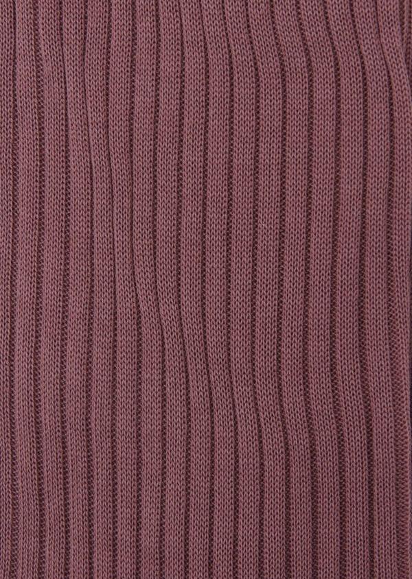 Chaussettes en coton fil d'Ecosse uni rose foncé - Father and Sons 7996