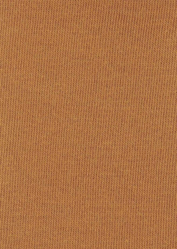 Chaussettes en coton mélangé uni camel - Father and Sons 7972