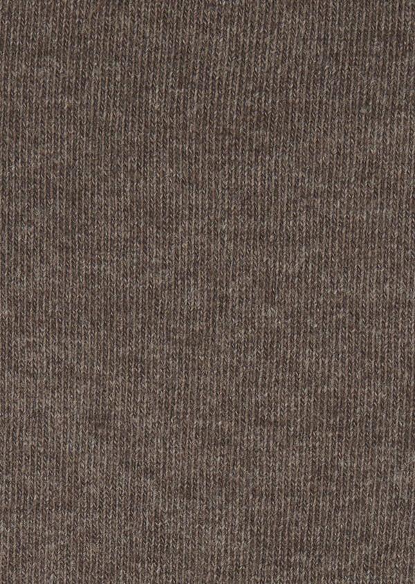 Chaussettes en coton mélangé uni marron clair - Father and Sons 7956