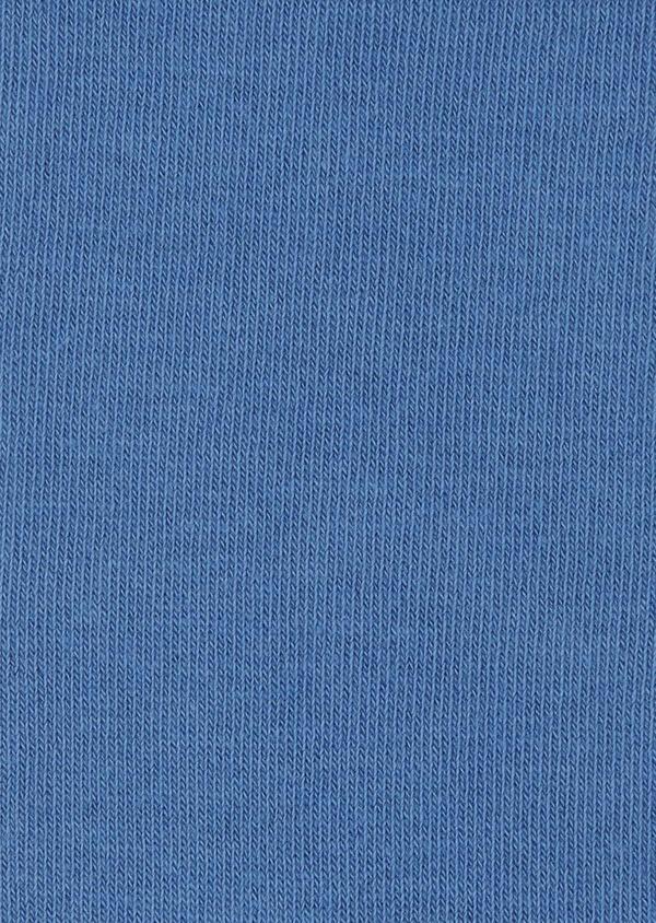 Chaussettes en coton mélangé uni bleu roi - Father and Sons 7964