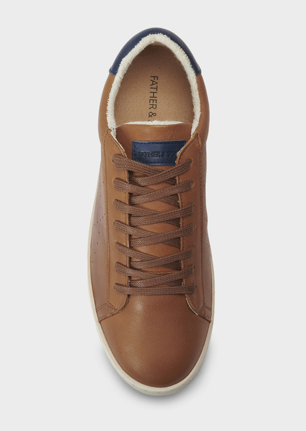Baskets basses en cuir cognac - Father and Sons 5022