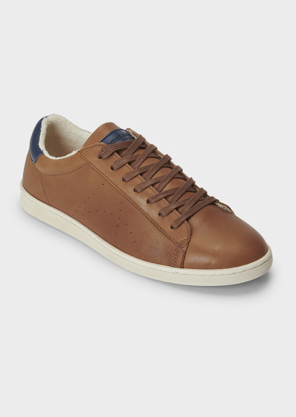 Baskets basses en cuir cognac - Father and Sons 5021