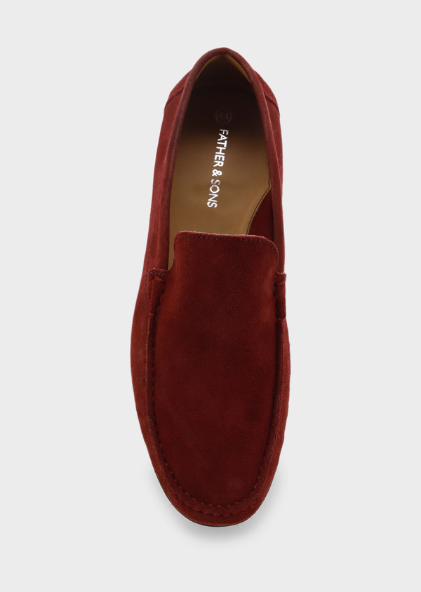 Mocassins en daim bordeaux - Father and Sons 5072